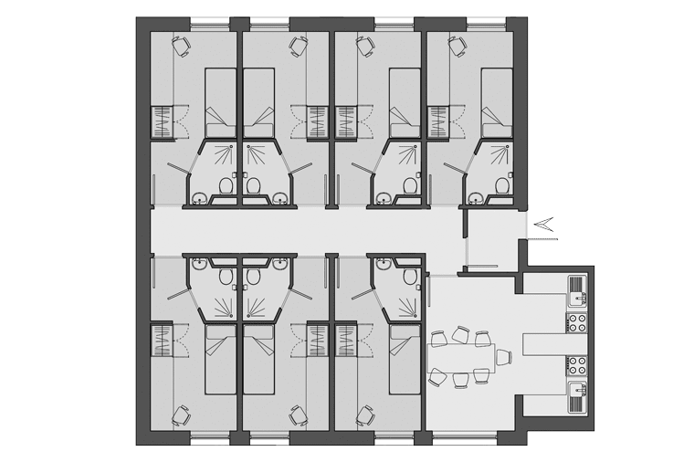 example floorplan of Alliance House, London