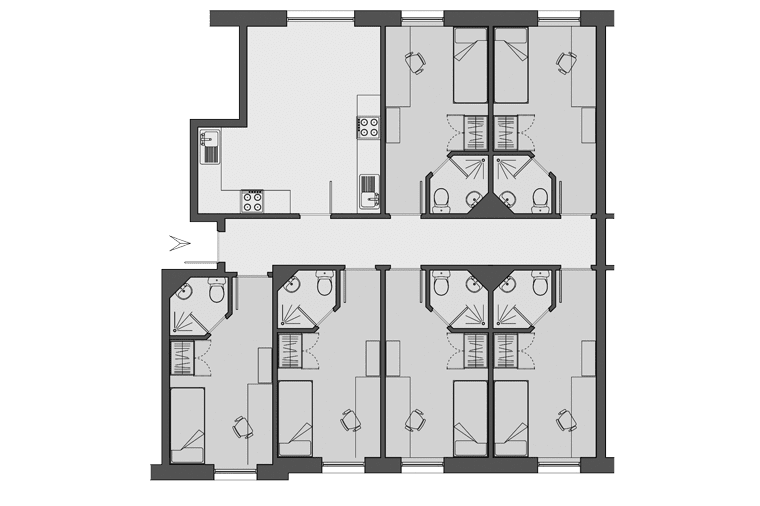 example floorplan for Dinwiddy House, London