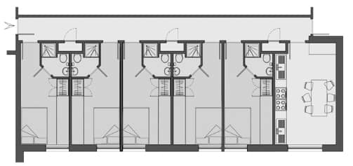 Floorplan of Don Gratton House with double bedrooms