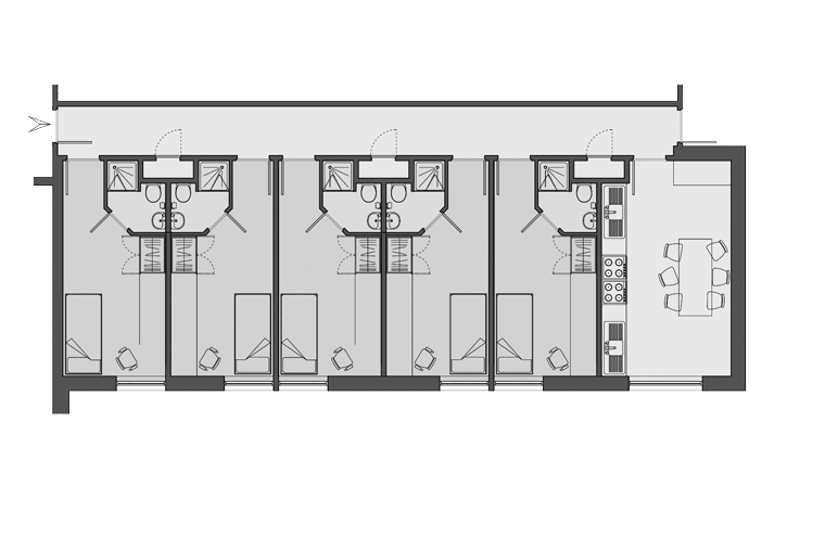 example flat layout for Don Gratton House, London