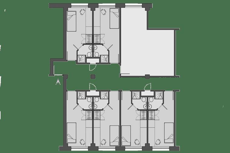 example floorplan for Manna Ash House, London