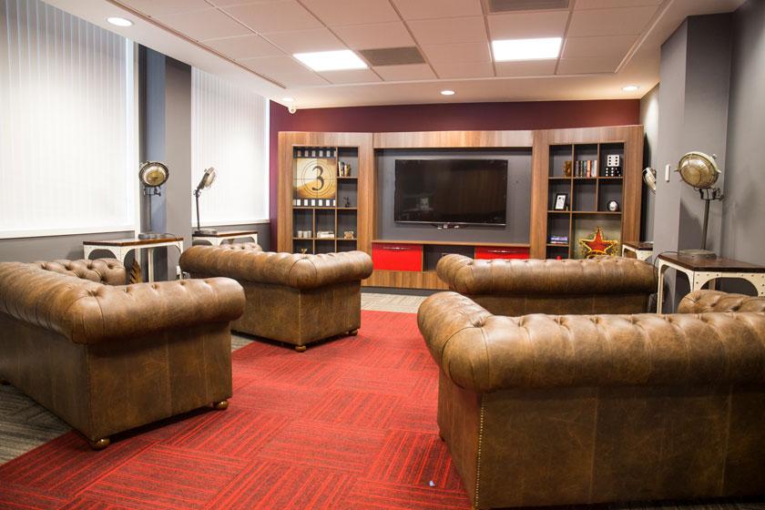 Cinema room at Marybone Student Village