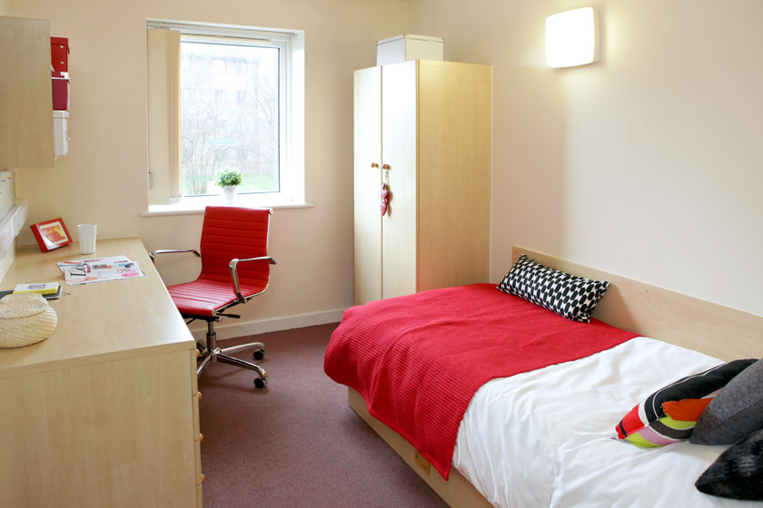 Example bedroom at Moor Lane Halls
