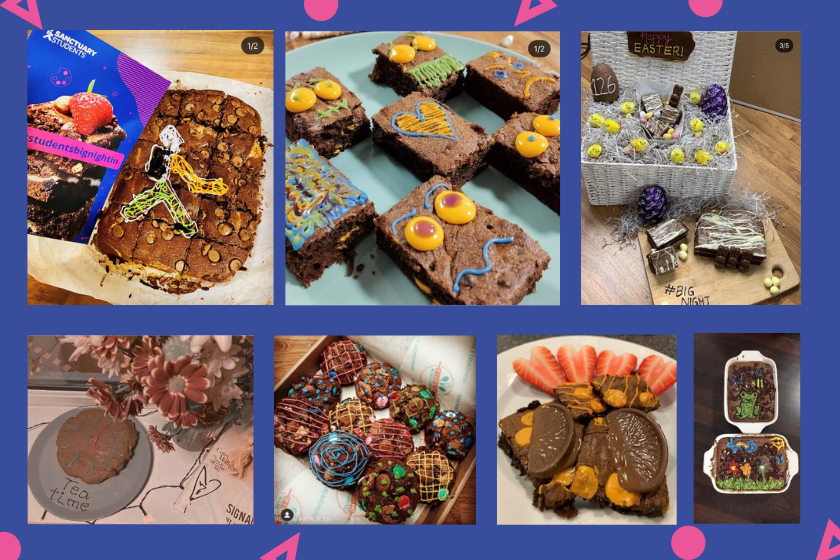 More brownies created by students who took part in the Bight Night In campaign