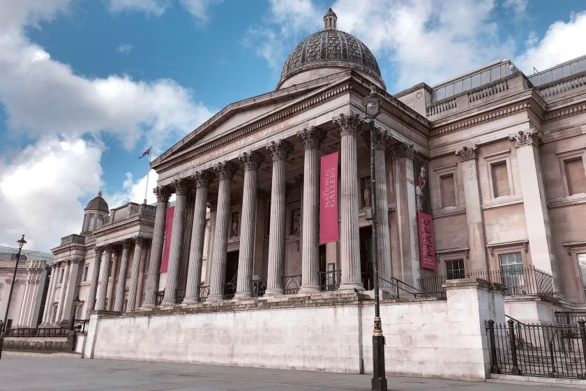 Exterior of the National Gallery in London