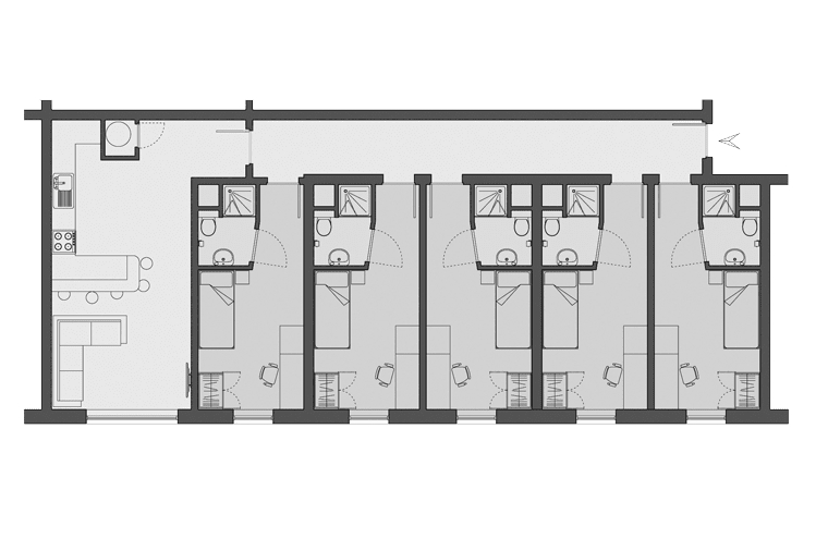 example floorplan at Oak & Willows House, Stratford-upon-Avon