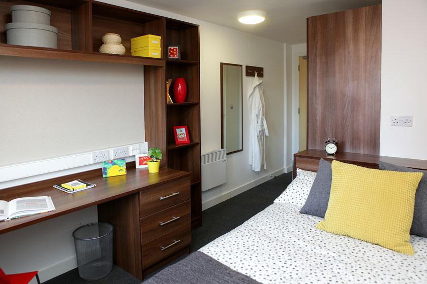 Example bedroom at Walker Street, Preston