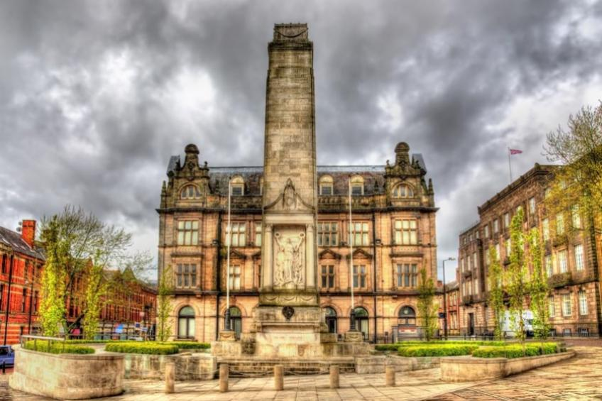 A architectural building in Preston, UK.