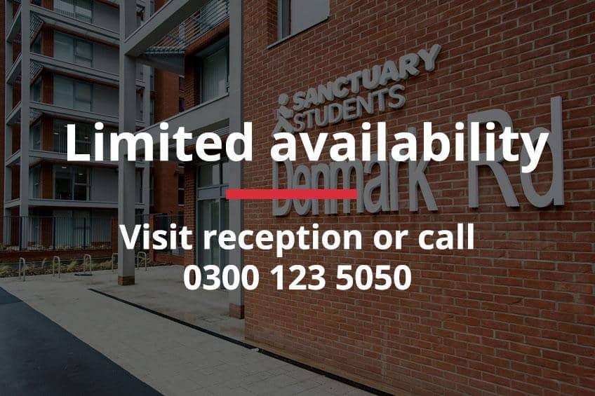 exterior thumbnail of Denmark Road with limited availability banner. Visit reception or call 0300 123 5050