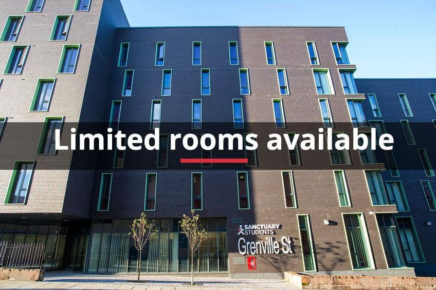 Limited rooms available at Grenville Street