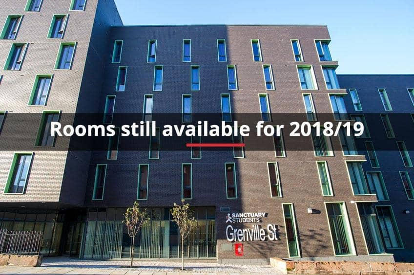 Rooms still available for 2018/19 at Grenville Street