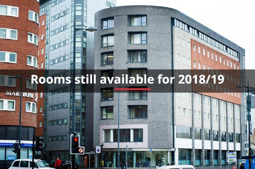 Rooms still available for 2018/19 at Marybone 2