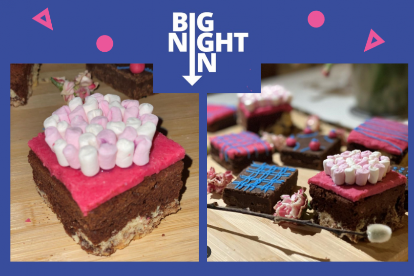 Delicious brownies created by students who took part in the Bight Night In campaign