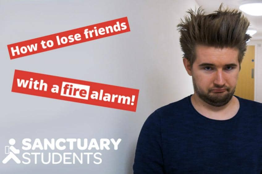 How to lose friends with a fire alarm