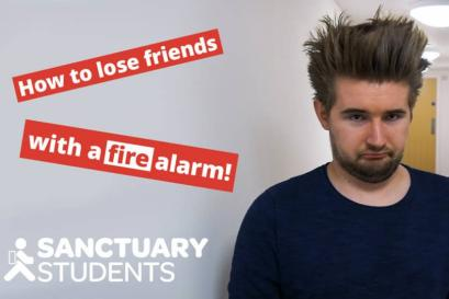 A picture of How to lose friends at uni… with the push of a button
