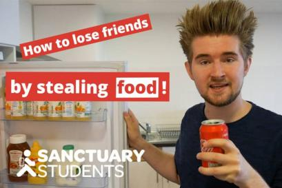 A picture of How to lose friends at uni… with food theft