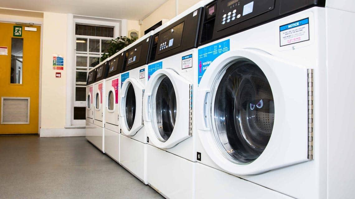 One of the laundry rooms at Alliance House