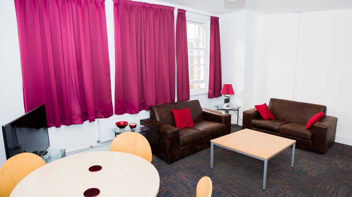 An example of a shared lounge within an Alliance House flat.