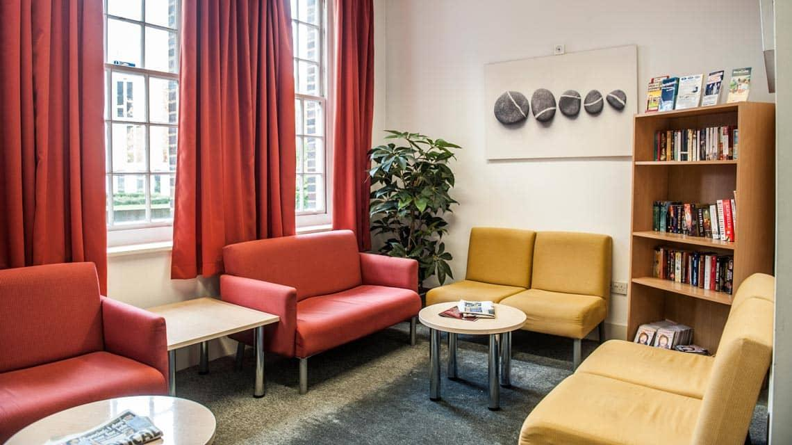 shared lounge at Alliance House