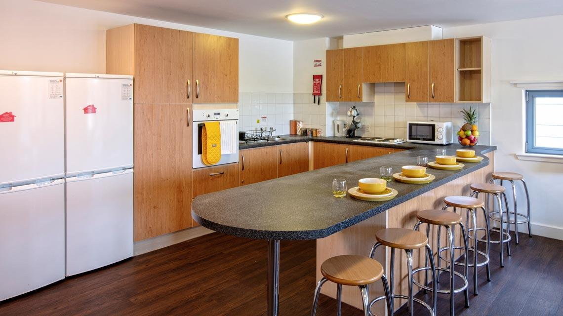 Example shared kitchen at our Belmont student accommodation in Dundee