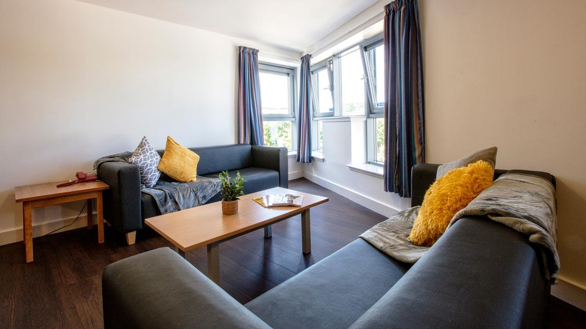 Example shared lounge at our Belmont student accommodation in Dundee