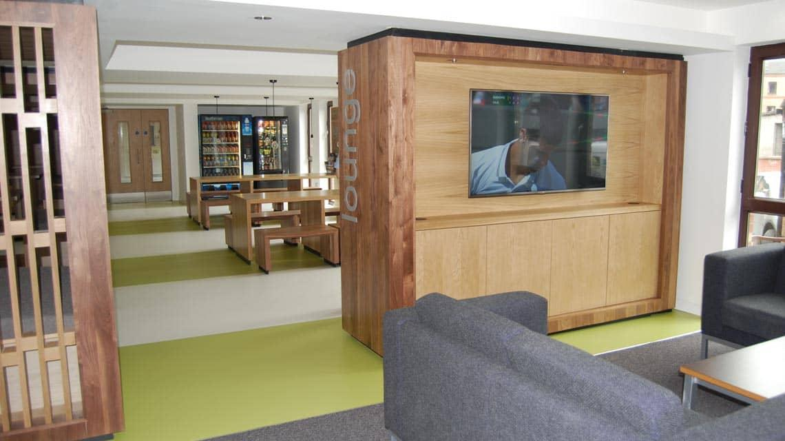 Shared common room at Cairncross House
