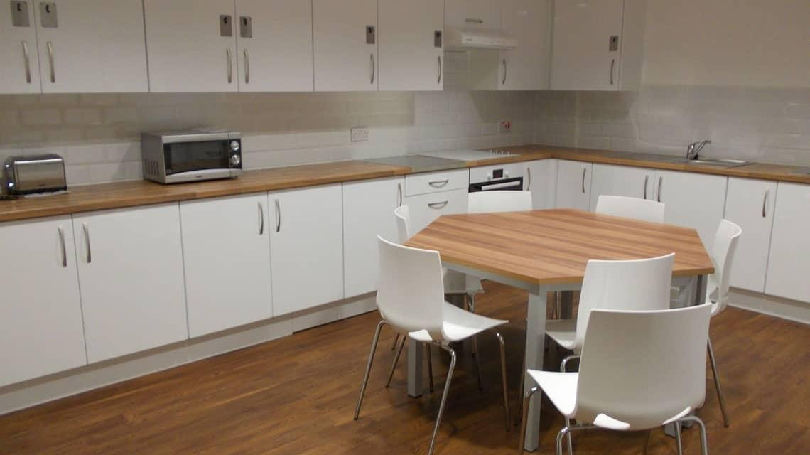 example of the new shared kitchens at Cairncross House