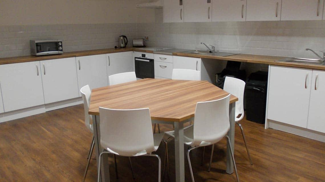example dining and kitchen area at Cairncross House