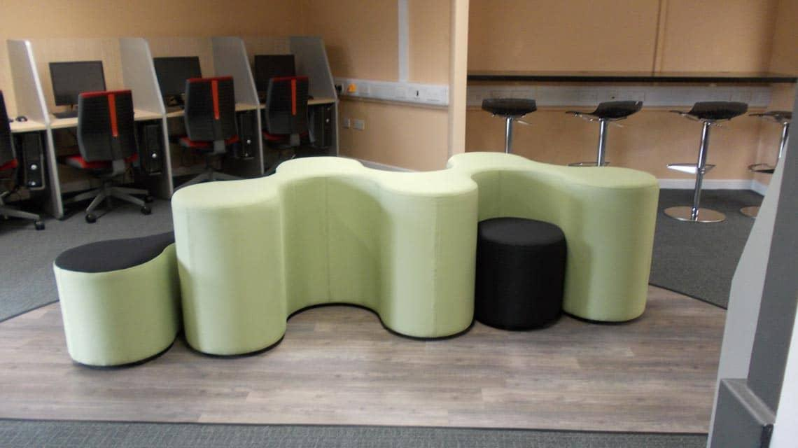 study zone seating at Cairncross House