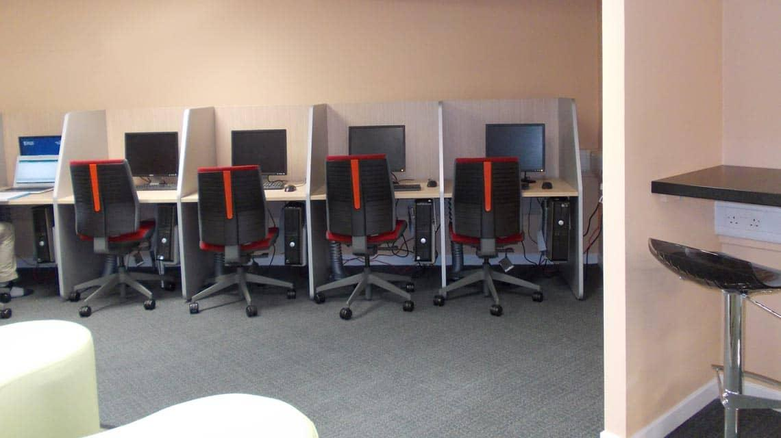 computers within the Cairncross House study zone
