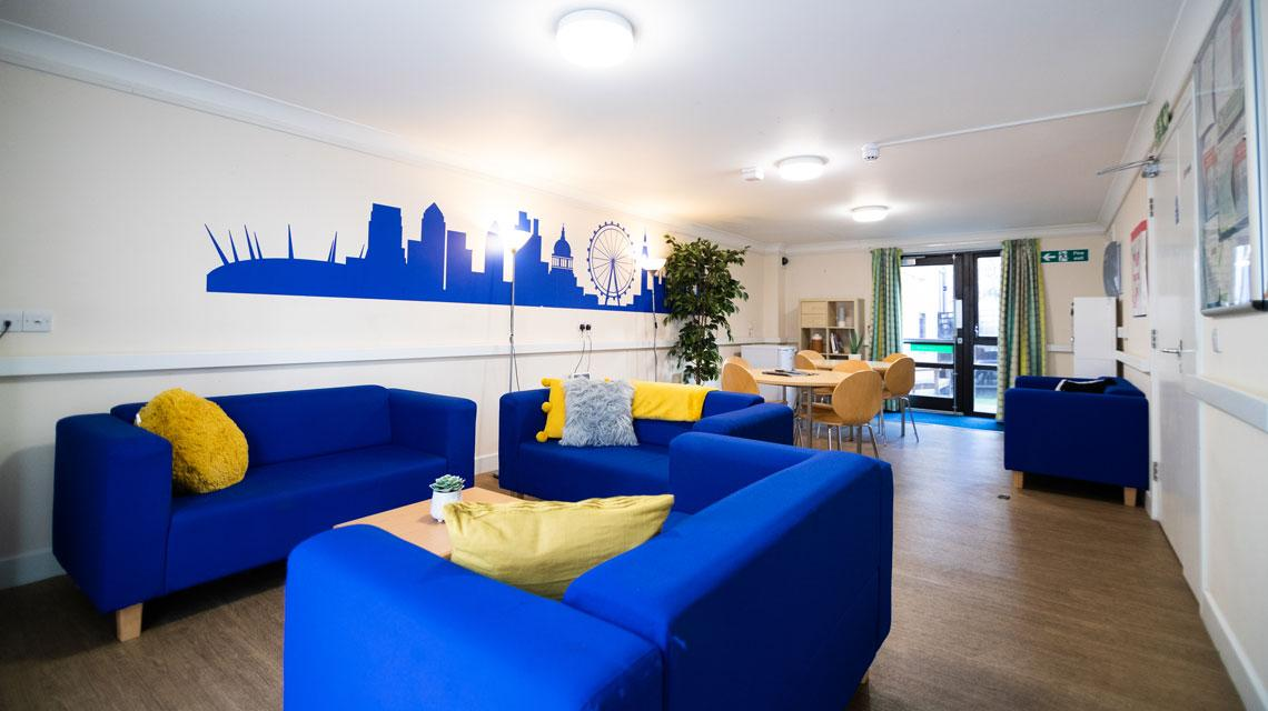 Shared common room at Coopers Court, London