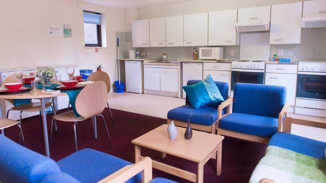 example shared lounge and kitchen at Coopers Court