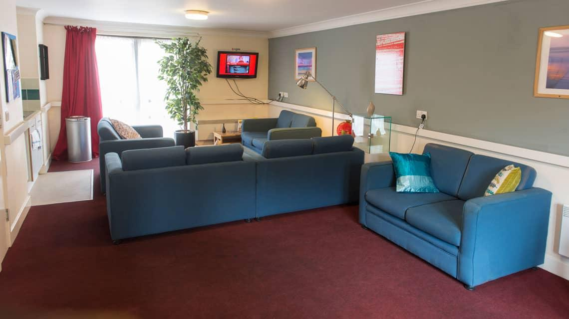 Coopers Court shared lounge area