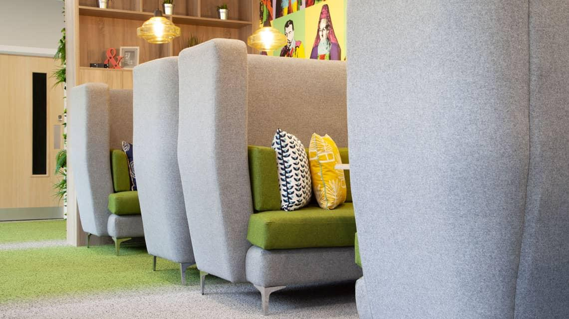 Seating area in the Denmark Road common room