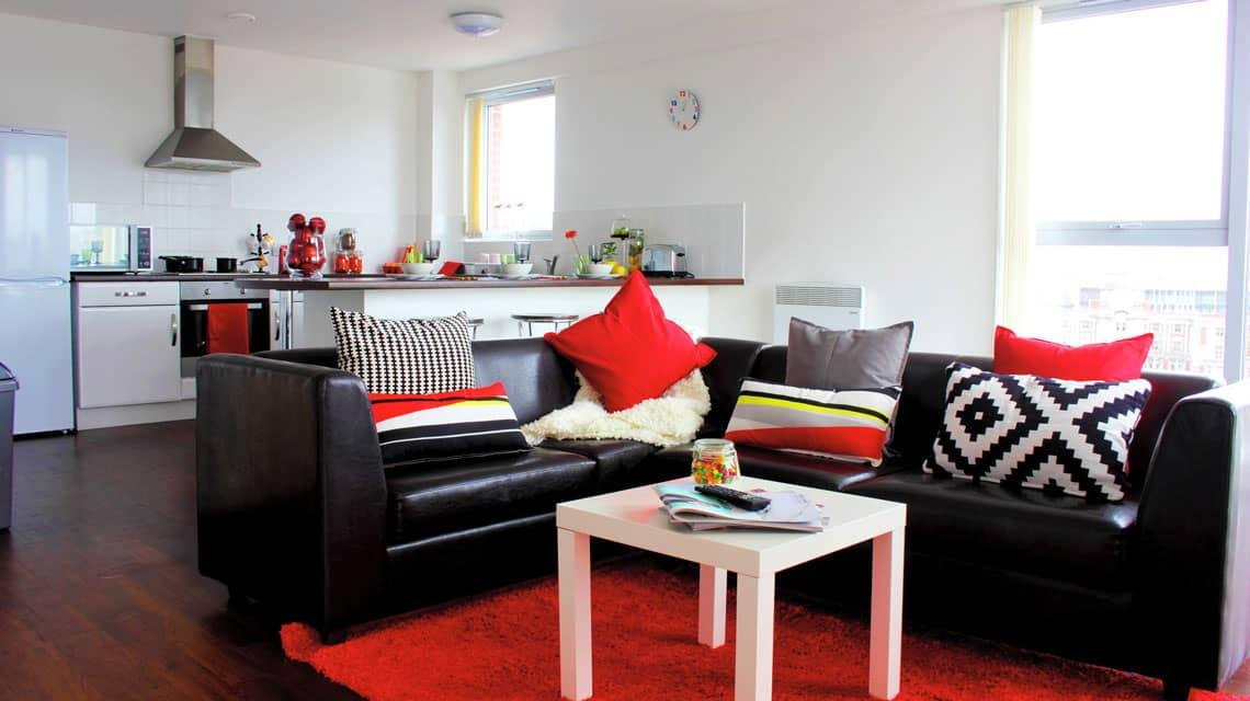 shared kitchen and lounge at Denmark Road