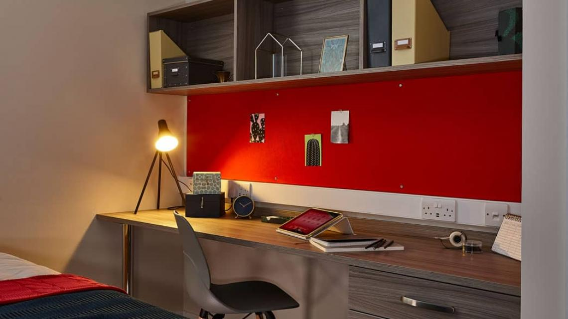 example desk area within the bedrooms at Don Gratton House