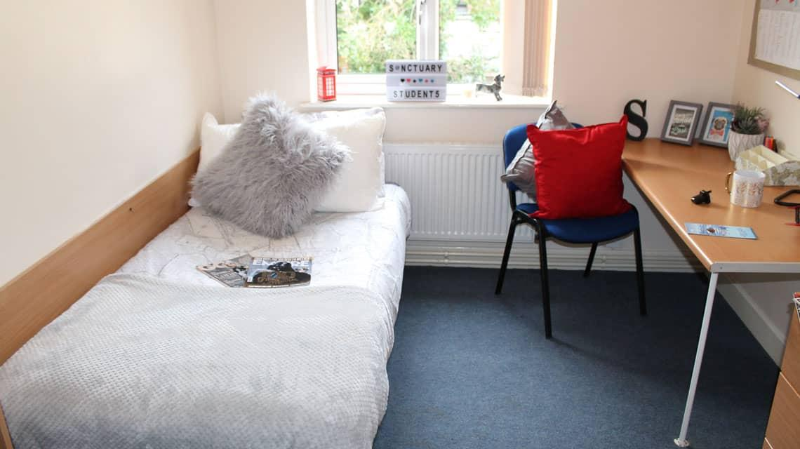 Typical bedroom at Grange Court & The Ridings