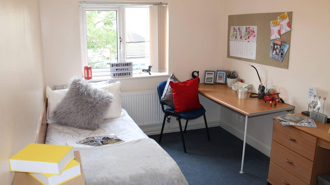 Example bedroom at Grange Court & The Ridings