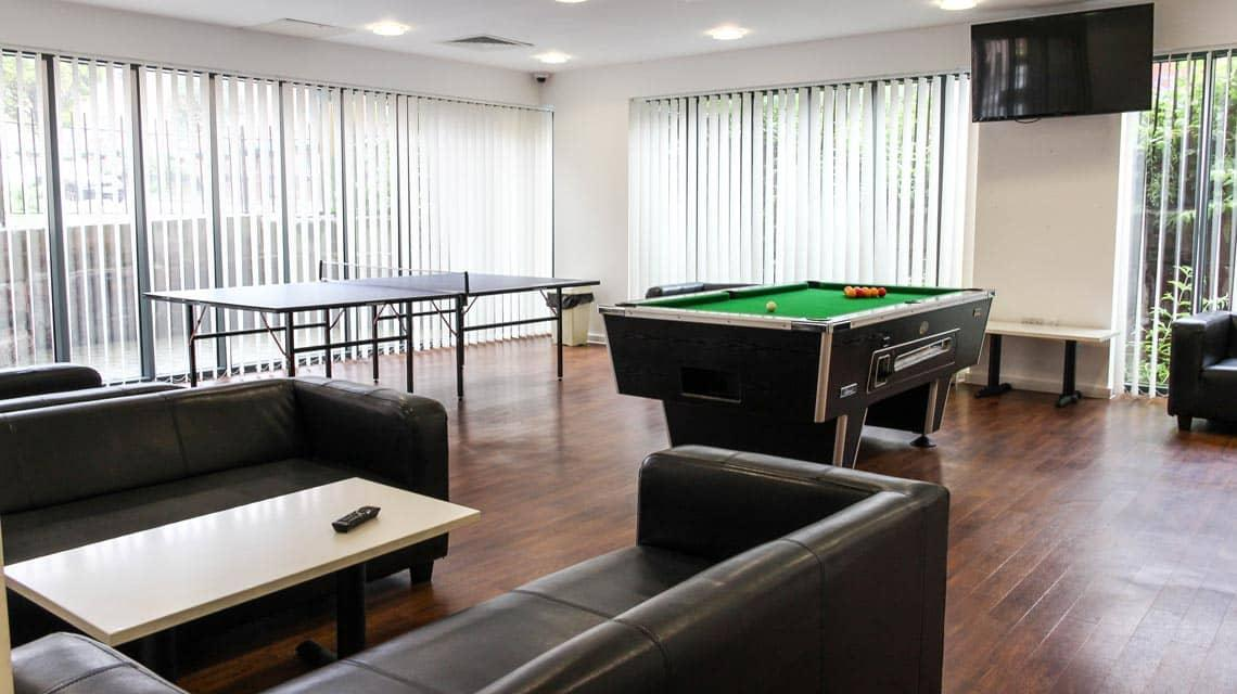 Games tables in the Grenville Street common room
