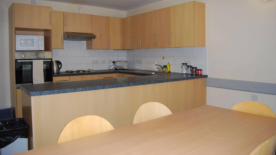 example lounge/kitchen at Kelvinhaugh Gate