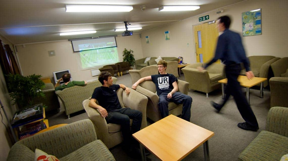shared common room at Lilian Knowles House