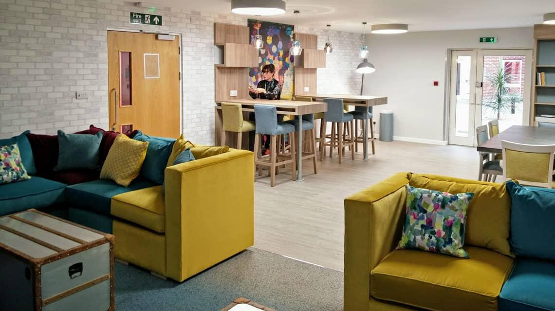 The new common room at Lilian Knowles House in London.