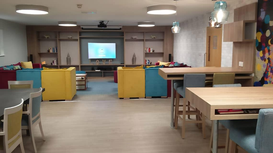 The spacious new common room at Lilian Knowles House.