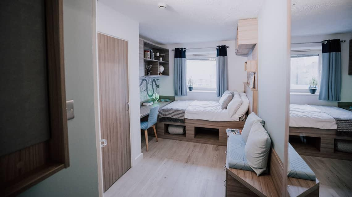 Example bedroom at Manna Ash House.