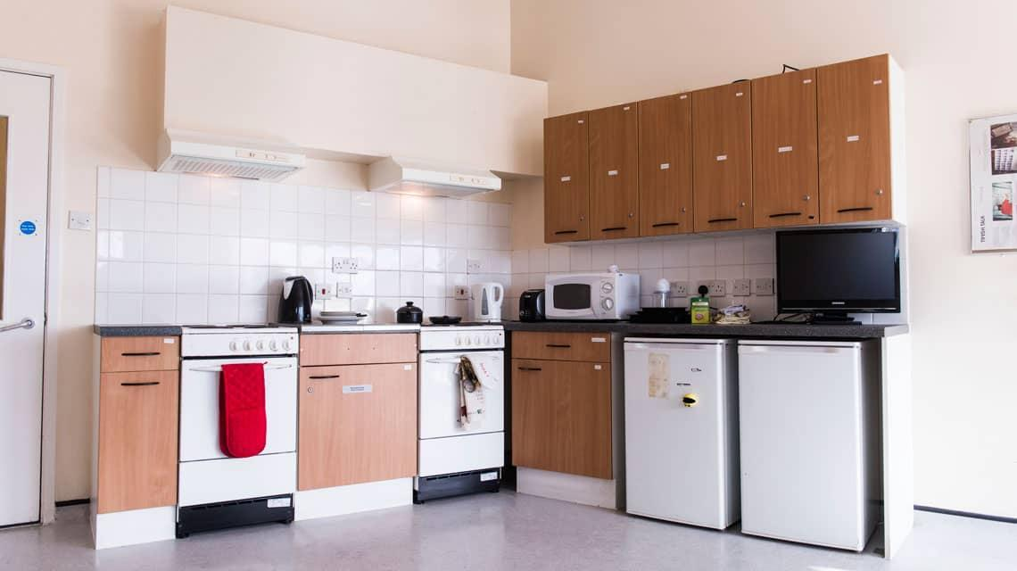 typical shared kitchen at Manna Ash House