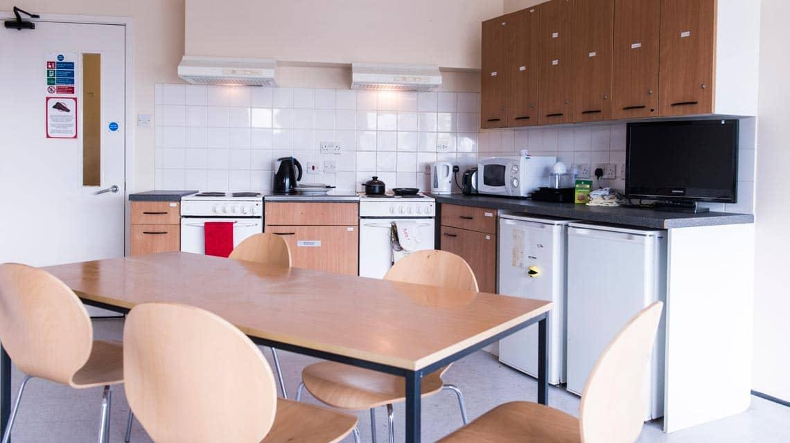 example shared kitchen and dining room at Manna Ash House