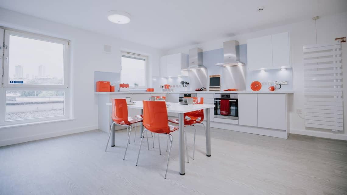 Example shared kitchen at Manna Ash House.