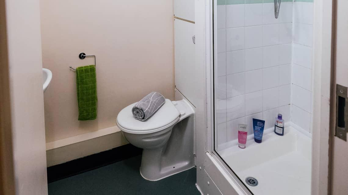 Example bathroom at Moor Lane Halls