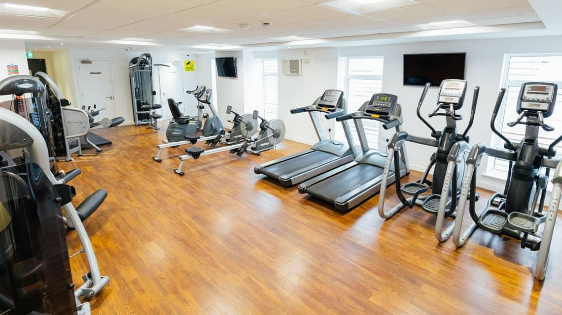 The on-site gym at Moor Lane Halls