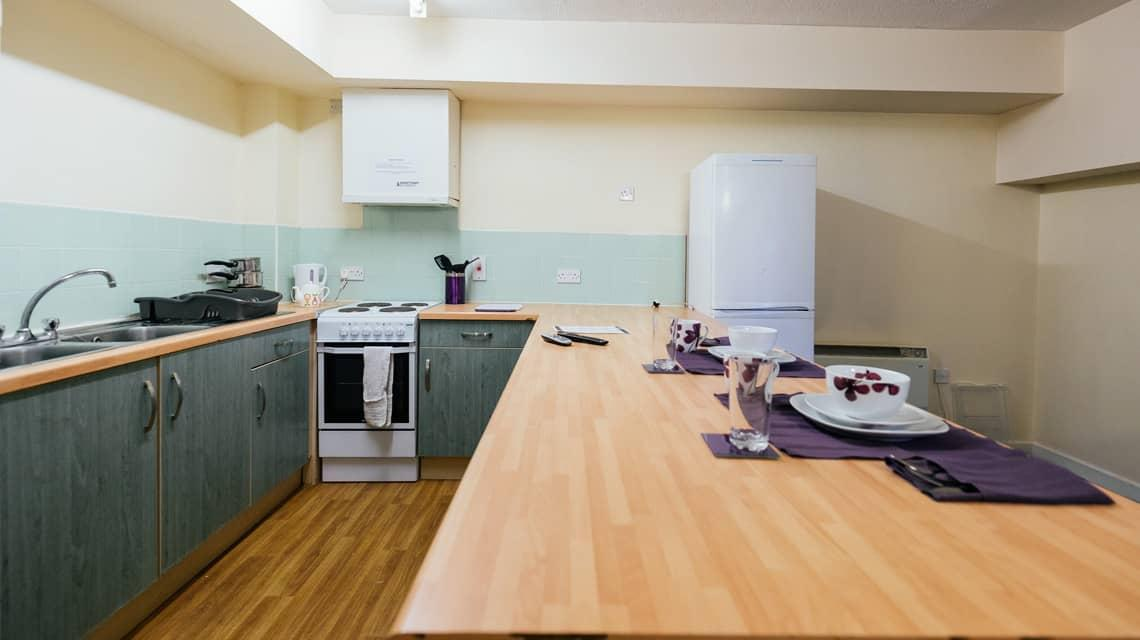 Shared Kitchen at Moor Lane Halls